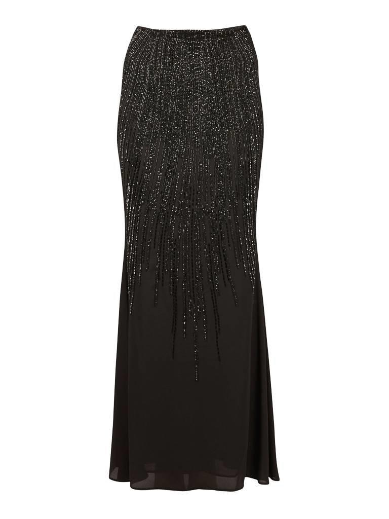 Elisabetta Franchi Maxi rok met pailletten zwart
