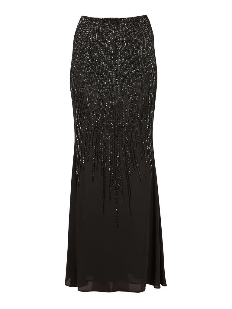 Elisabetta Franchi Maxi skirt with sequins black