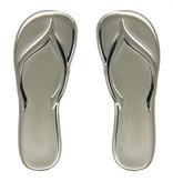 Godert.me Flip flop slippers pin silver