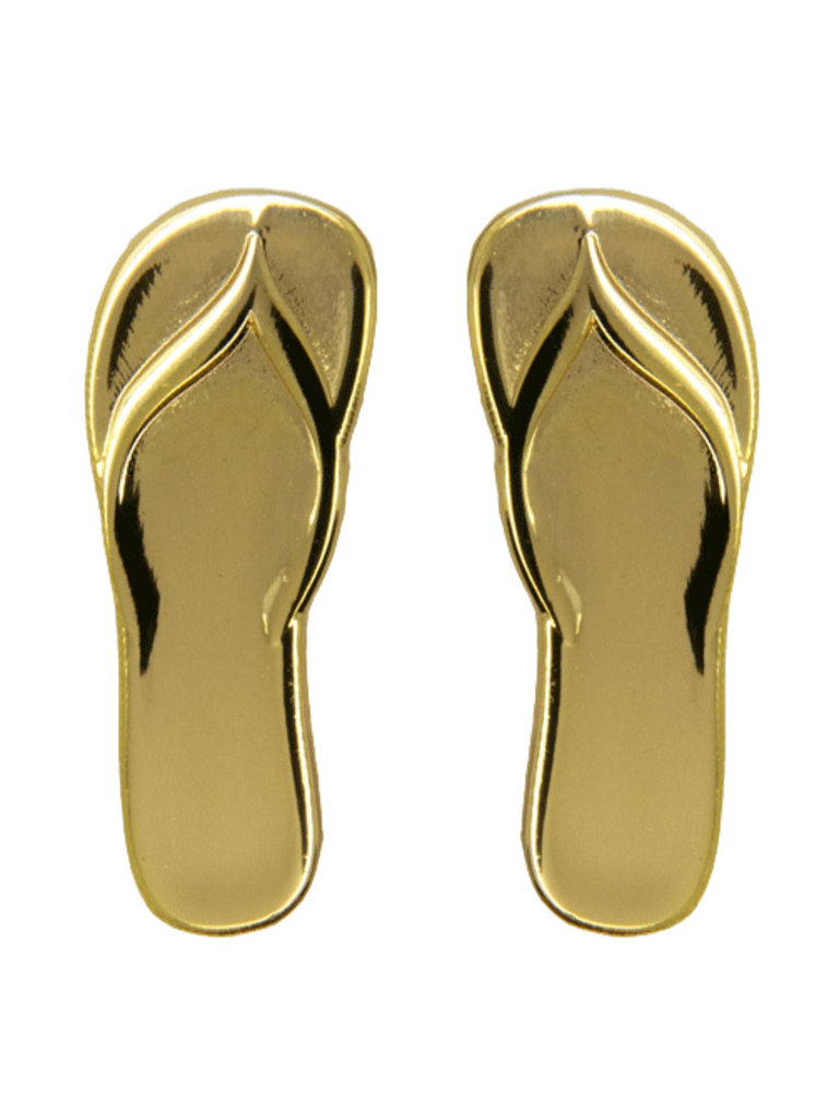 Godert.me Flip flop slippers golden pin