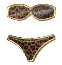Godert.me Bikini pin leopard print gold
