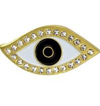 Godert.me Lucky eye pin with rhinestone gold