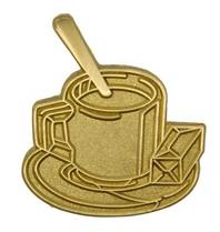 Godert.me Cup of coffee golden pin