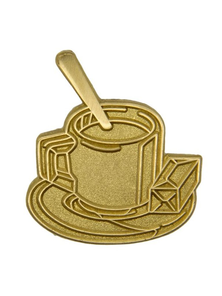 Godert.me Cup of coffee Pin Gold