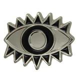 Godert.me Lucky eye pin zilver zwart