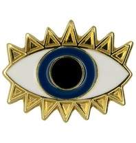 Godert.me Lucky eye pin goud blauw