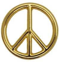 Godert.me Peace sign golden pin