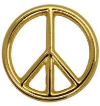 Godert.me Peace sign Pin gold