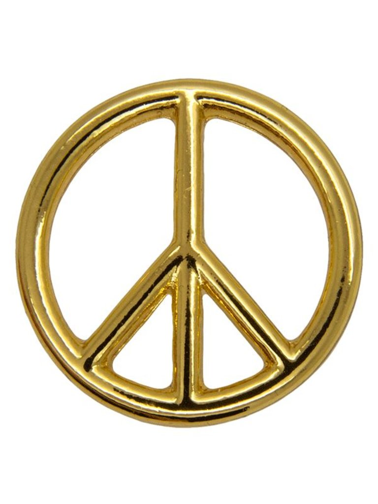 Godert.me Peace sign pin goud