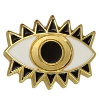 Godert.me Lucky eye Pin Gold weiß