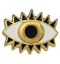 Godert.me Lucky eye pin gold white