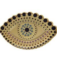 Godert.me Venice eye golden pin