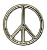 Godert.Me Peace sign pin zilver