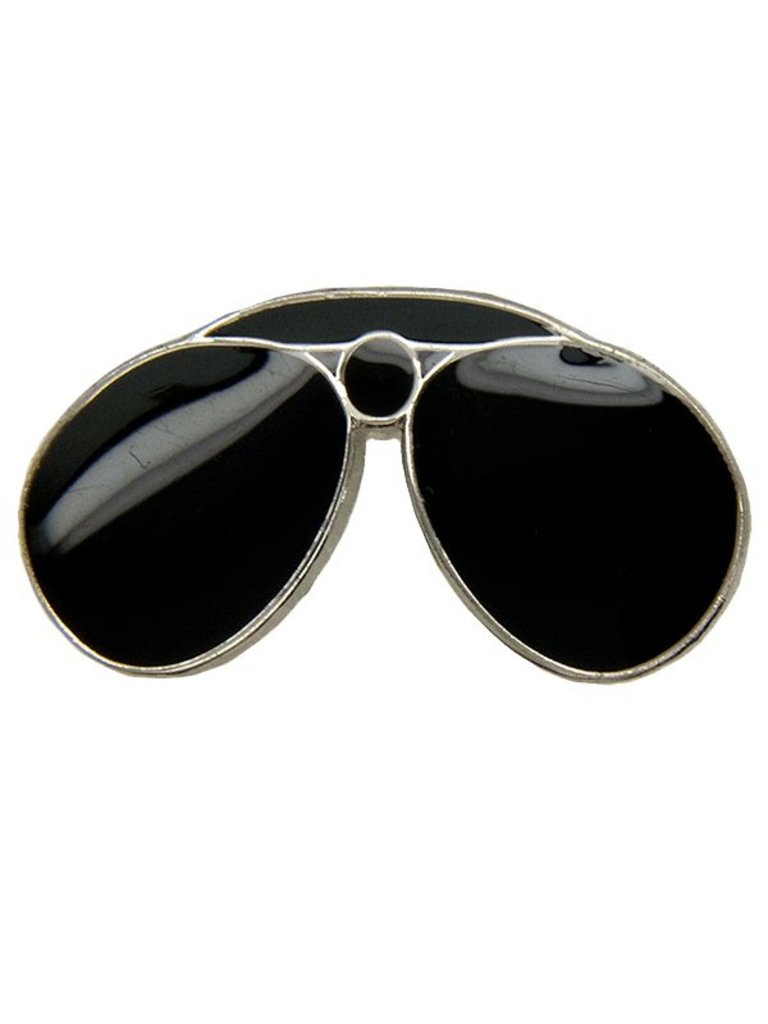 Godert.me Aviator black pin gold