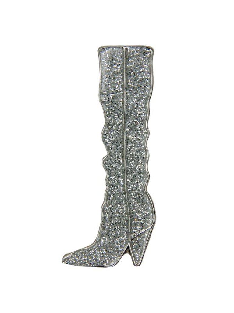 Godert.me Boot pin glitter silver