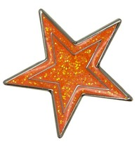 Godert.me Star pin orange