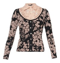 Elisabetta Franchi knitted top with flower details