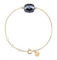 Morganne Bello bracelet with hematite stone diamond