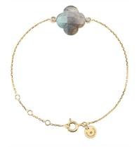 Morganne Bello bracelet with labradorite stone diamond