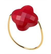 Morganne Bello ring kwarts rood maat 52
