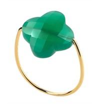 Morganne Bello ring agaat groen maat 54