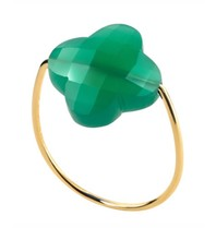 Morganne Bello ring agate green size 54