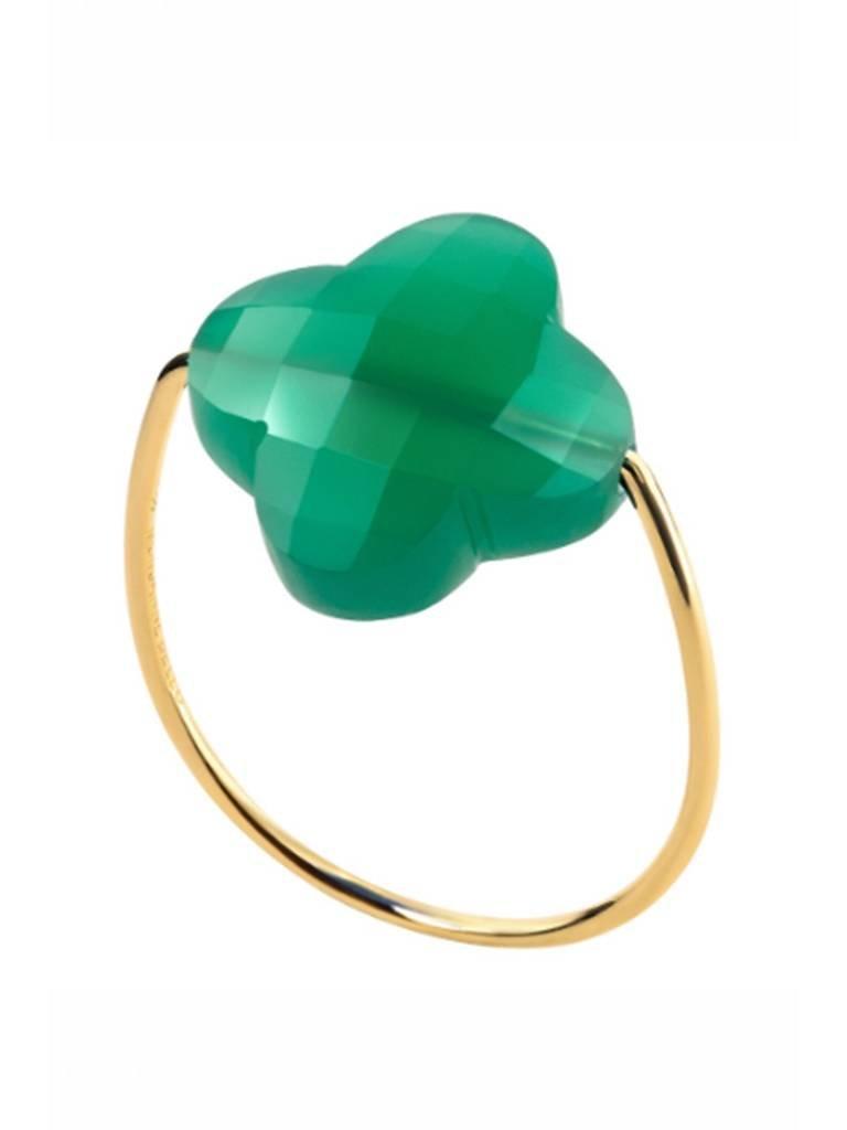 Morganne Bello Ring Achatgrün Größe 54