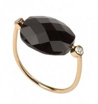 Morganne Bello Ring Hämatit Stein Diamant Größe 52