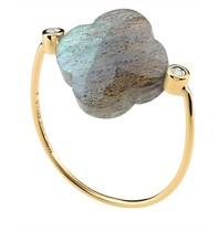Morganne Bello ring labradoriet steen diamant maat 54