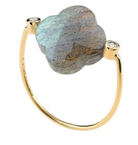 Morganne Bello ring labradorite stone diamond size 54
