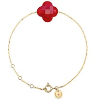 Morganne Bello armband met rode kwarts steen