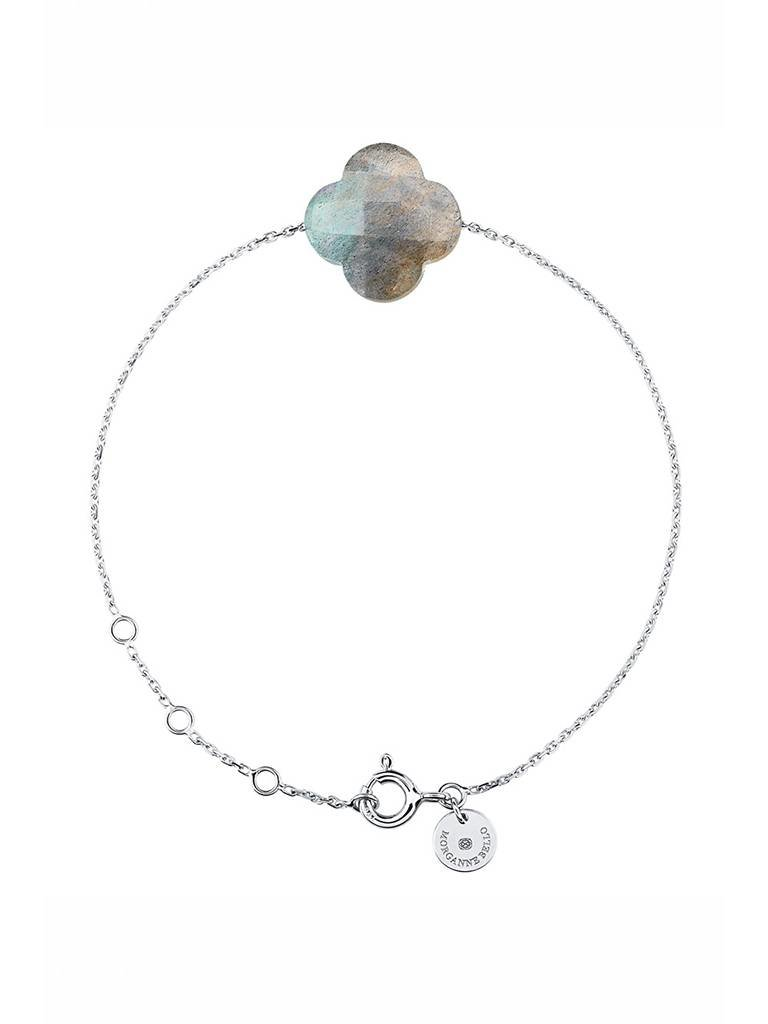 Morganne Bello Armband mit Labradorit Stein Weißgold