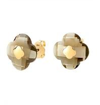 Morganne Bello earrings smoky quartz stone