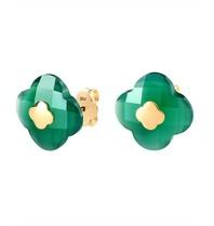 Morganne Bello earrings green agate