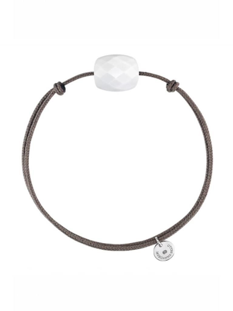 Morganne Bello Armband mit weißem Achat