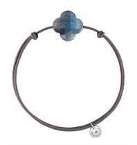 Morganne Bello cord bracelet with labradorite
