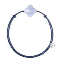 Morganne Bello cord bracelet with chalcedony