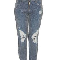 Elisabetta Franchi Boyfriend-Jeans mit Perlen