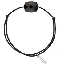 Morganne Bello cord bracelet with onyx black