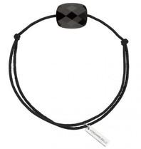 Morganne Bello koord armband met Onyx zwart