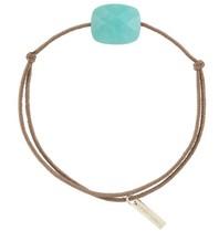 Morganne Bello cord bracelet with Amazonite