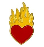 Godert.me Burning heart pin goud