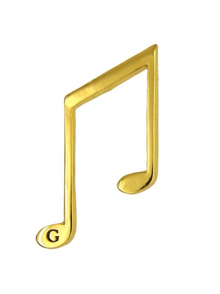 Godert.me Music note pin goud