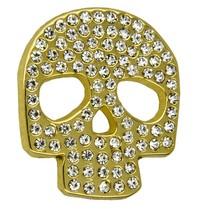 Godert.me Rhinestone skull Stift Gold