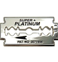 Godert.me Razor blade pin silver