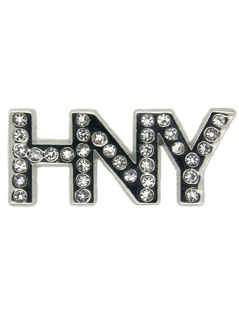 Godert.me Happy New Year pin zilver