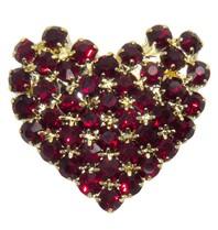 Godert.me Rhinestone heart goud/rood