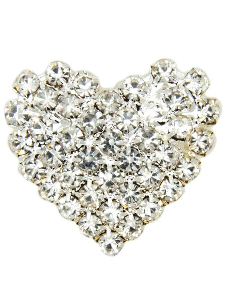 Godert.me Rhinestone heart zilver