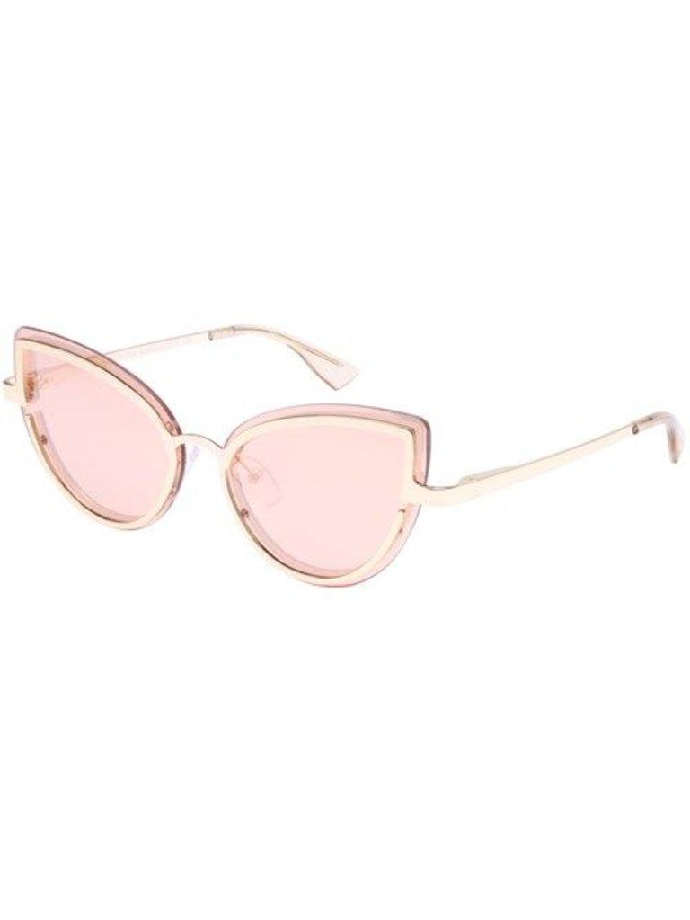 Le Specs Luxe Adulation zonnebril roze goud