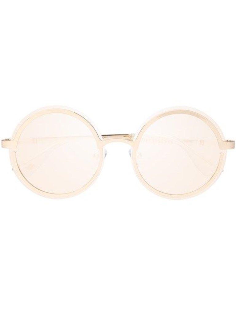 Le Specs Luxe Oviaton Sonnenbrille Gold